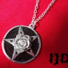 Rose Necklace - Satanist Necklace - Rose Pendant - Witch Jewelry - Rose Medallion - Flower Pendant