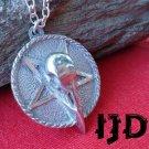 Raven Skull Necklace - Raven Skull Pendant - Raven - Crow Necklace - Gothic Necklace - Gothic Raven