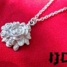 Rose Necklace - Rose Pendant - Gothic Rose - Rose Bouquet - Metal Rose - Gothic Rose Bundle