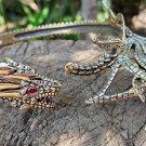 Bronze golden mirror polished 3d metal dragon necklace choker halloween gift