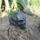 Black wounded silver skull ring , biker's ring for men and metalheads , perfect halloween gift