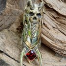 Big articulated full finger claw ring , vampire talons armor costume halloween gift