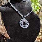 Hendecagram star necklace , chaos anti cosmic energy pendant , satanic black metal jewelry artefact