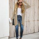 Faux Fur Collar Loose Knitting Coat For Women