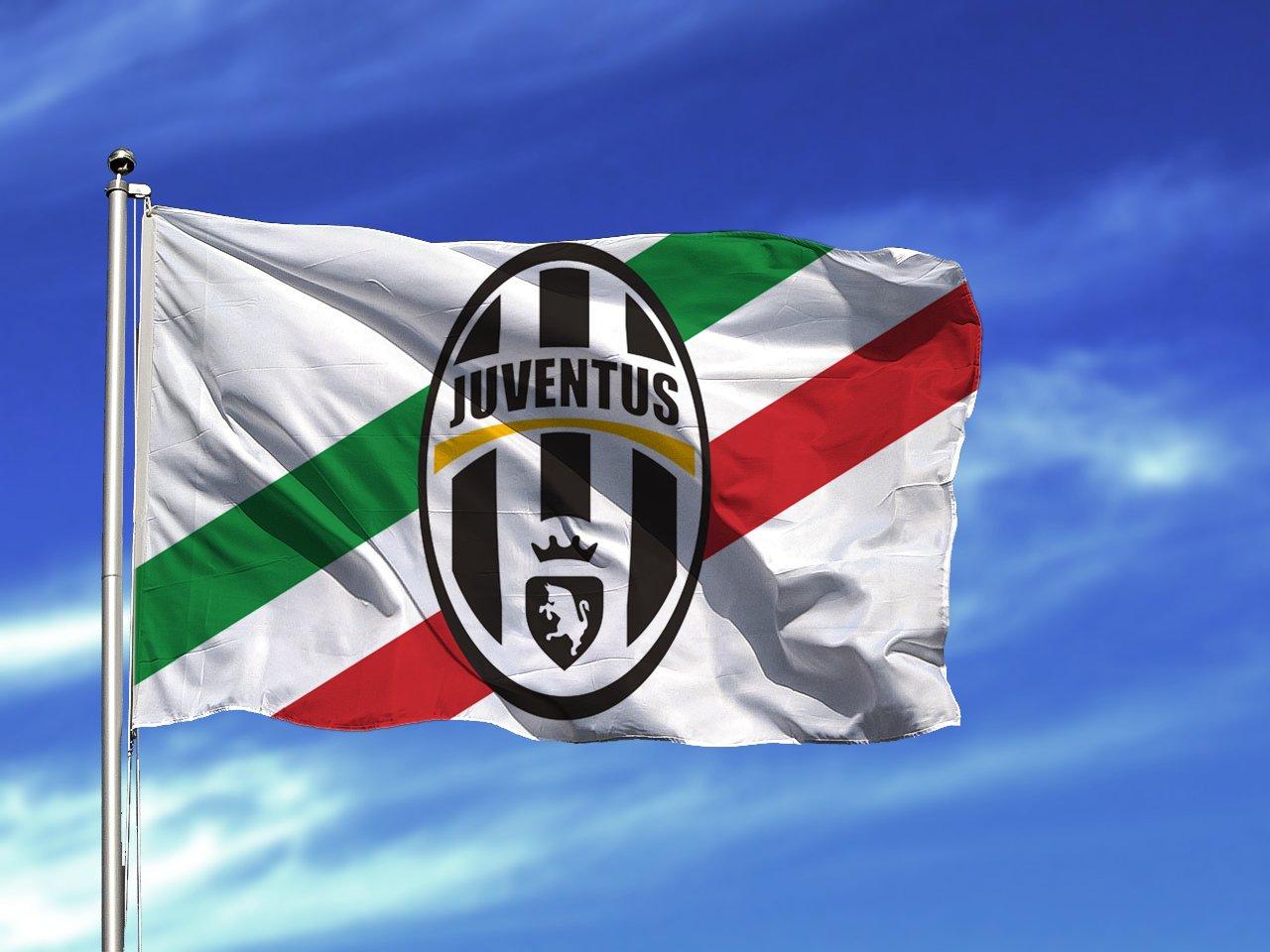 Flag Juventus Soccer Football Banner Italy New Logo Official Fc