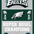 Eagles Philadelphia Flag Banner Nfl 3x5 3 Football Ft New Super Bowl X Champions