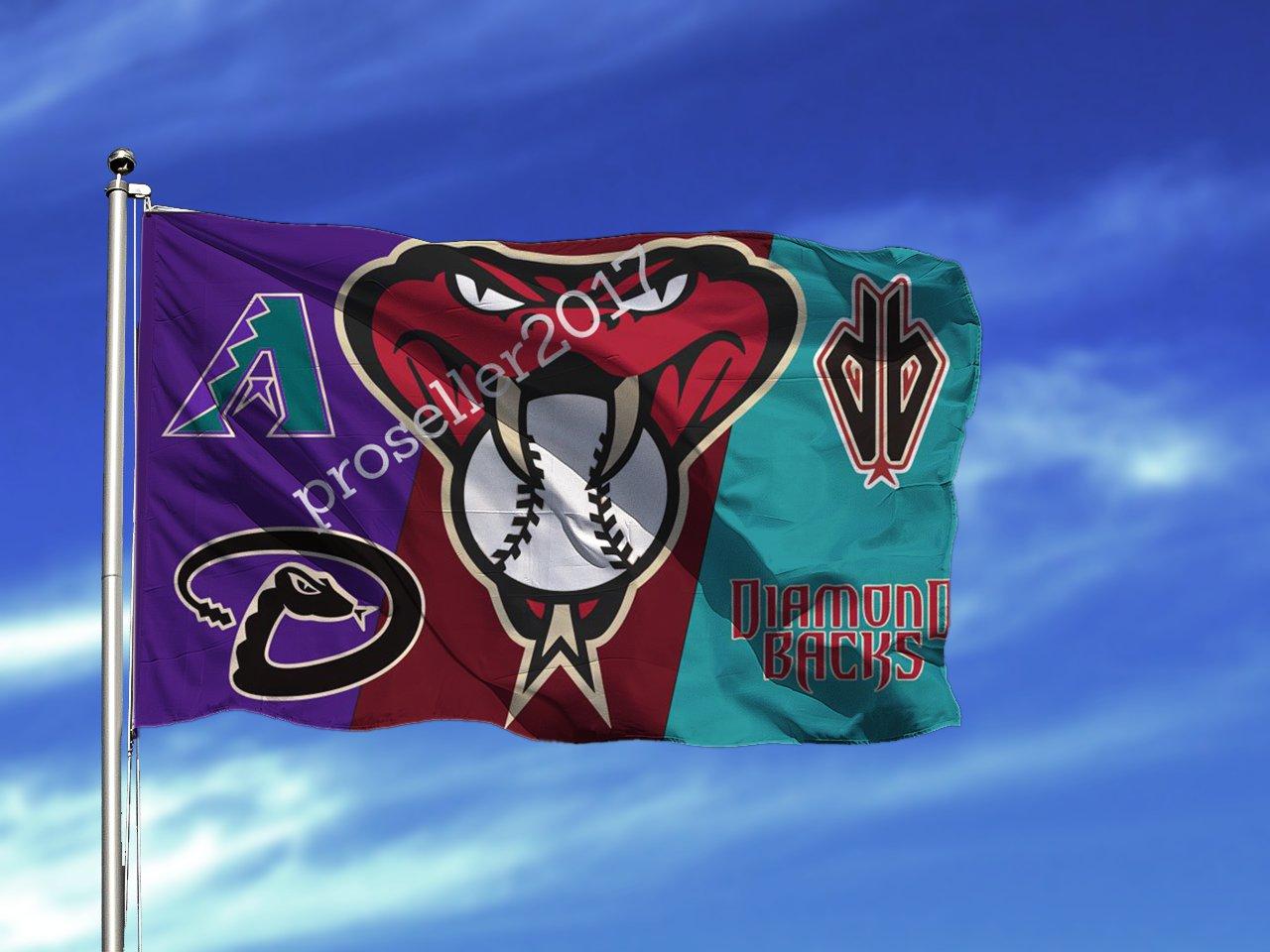 Flag Arizona Diamondbacks Banner Mlb Baseball New Sided 3x5