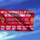 Liverpool FC You'll Never Walk Alone Flag 3x5 ft Red Soccer Futbooll Banner New
