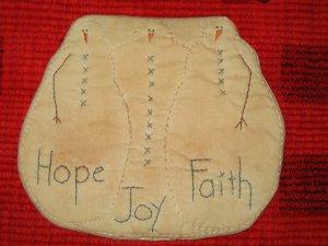 Snowman Hope Joy Faith Mat