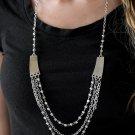 Marvelously Metro Necklace. (BLACK)