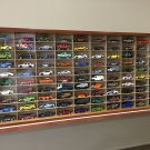Display case cabinet for 1/64 diecast scale cars (hot wheels, matchbox) - 100NWW-2