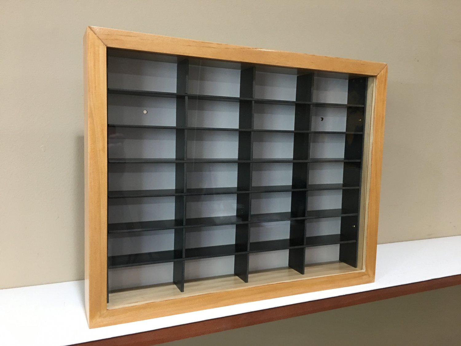Display case cabinet for 1/64 diecast scale cars (hot wheels, matchbox) - 28NWB-1