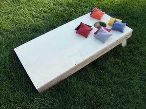 Unpainted Cornhole Board Combo Set