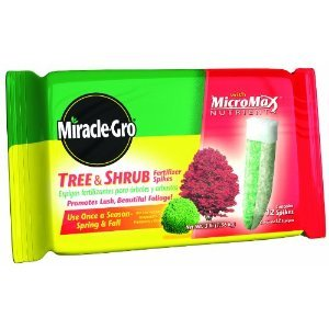 Miracle-Gro Tree and Shrub Fertilizer Spikes, 12-Pack
