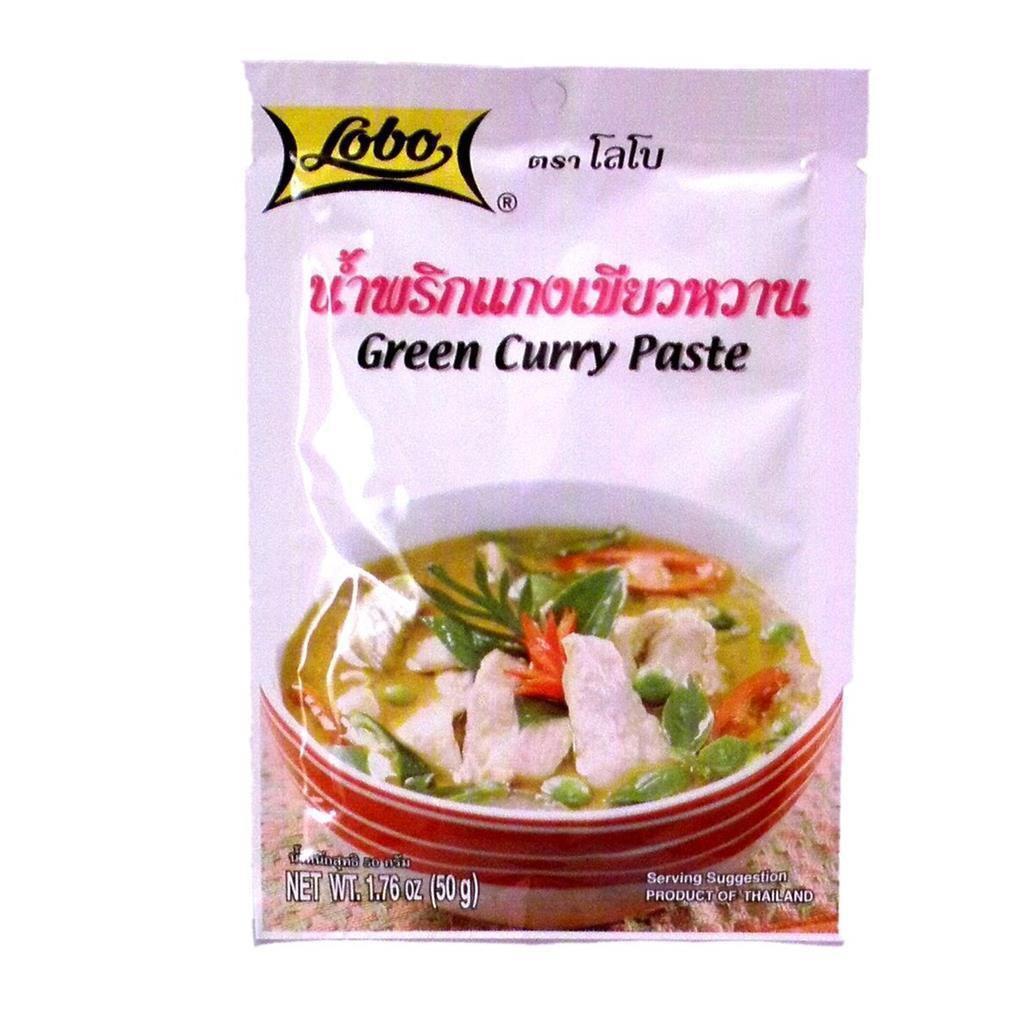 50 Grams,  1.76 Oz Authentic Thai Dishes Lobo Brand Thai Green Curry Paste