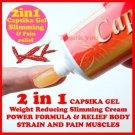 35 GRAMS OF CAPSIKA Capsaicin Thai Chili HOT GEL For Muscular Pain Ache stiff neck