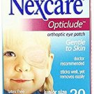 2 EYE PATCHES OF 3M Nexcare Opticlude Orthoptic Eye Patch - Small (64mmx46mm) Adhesive Patches