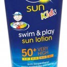 100 ML OF NIVEA KIDS  SWIM & PLAY SUN LOTION SPF 50 + VERY HIGH