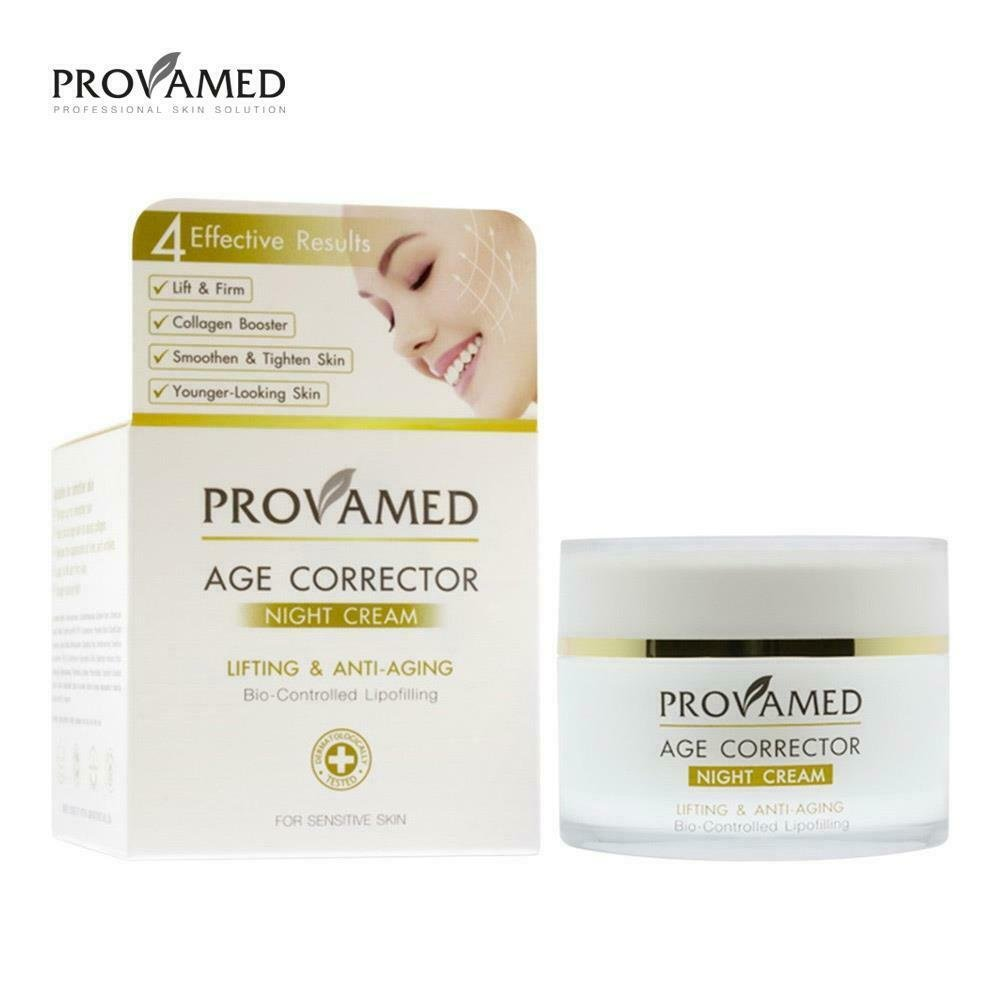 50 GRAMS  OF PROVAMED AGE CORRECTOR NIGHT CREAM  LIFTING AND ANTI-AGING