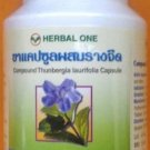100 CASULES OF Thunbergia herbal anti alcohol drug drunk hangover detoxify Treatment