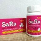 100 CAPLETS OF SARA PARACETAMOLS FOR FEVER AND PAIN MEDICATION