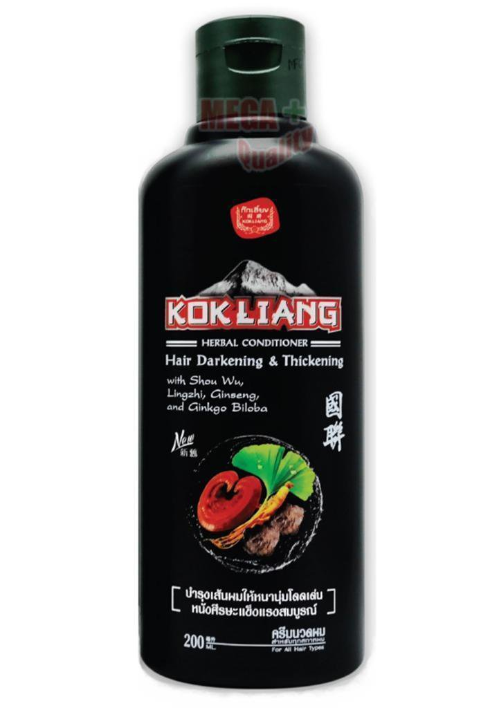 200 ML OF KOK LIANG CHINESE HERBAL CONDITIONER NATURAL FOR HAIR DARKENING THICKENING