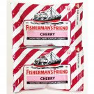 6 Packets Of Fisherman's Friend Cherry Flavour Lozenges Sugar Free Candy