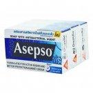 1 X 80 Gram Bar Asepso Body Odours Formula Soap ANTIBACTERIAL AGENT FOR HEALTHY SKIN