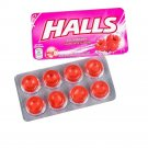 8 Pieces Halls Flavored Candy Fresh Breath Hard Sweets In Rasberry