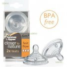 Tommee-Tippee-Closer-To-Nature-Fast-Flow Easy Latch Anti-Colic Baby Bottle Teats
