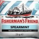 3 Packets Of Fisherman's Friend Spearmint Flavour Lozenges Sugar Free Candy