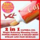 3 X 35 GRAMS OF CAPSIKA Capsaicin Thai Chili HOT GEL For Muscular Pain Ache stiff neck