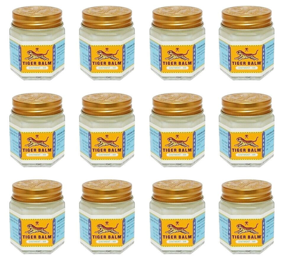 30g x 12 TIGER BALM White Pain Relief Ointment Muscular Aches Pain