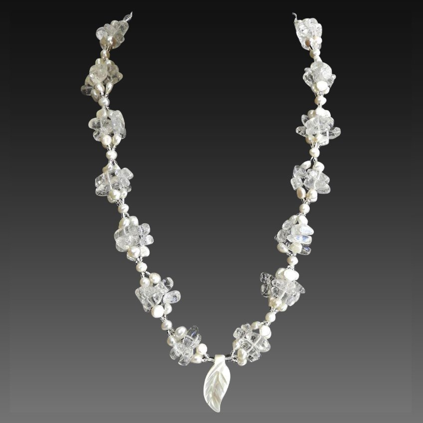 Quartz and Freshwater Pearl Necklace