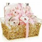 Pomegranate Spa Bath Gift Set & Basket by Giftsational!