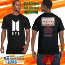 2018 LIVE BANGTAN BOYS BTS LOVE YOURSELF TOUR BLACK TEE W DATE CODE LMN01