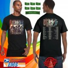 2019 LIVE KISS END PF THE ROAD END TOUR BLACK TEE W DATE CODE LMN01