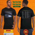 2020 LIVE TOOL BAND ADDED NEW DATES TOUR BLACK TEE SHIRT W DATE CODE LMN02