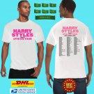 2021 LIVE HARRY STYLES LOVE ON TOUR SUMMER TOUR WHITE TEE SHIRT W DATE CODE LMN01