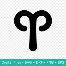 Aries Zodiac Sign SVG Files for Cricut, Horoscope, Star, DXF, Symbol, PNG, Clipart, EPS