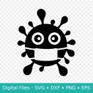 Corona SVG File for Cricut, Virus, Quarantine, Social Distancing, DXF, PNG, Clipart