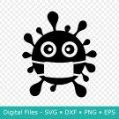 Corona SVG File for Cricut, Virus, Quarantine, Social Distancing, DXF, PNG, Clipart