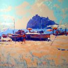<strong>ISCHIA  Canvas</strong> by Nicola Simbari <br>(Serigraph - Acrylic on Paper)