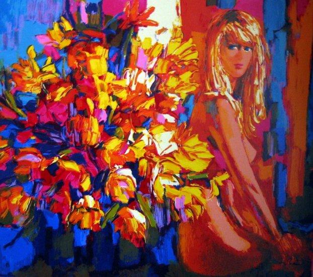 <strong>GOLD INTERIOR</strong> by Nicola Simbari<br>(Serigraph - Acrylic on <strong>Canvas</strong>)