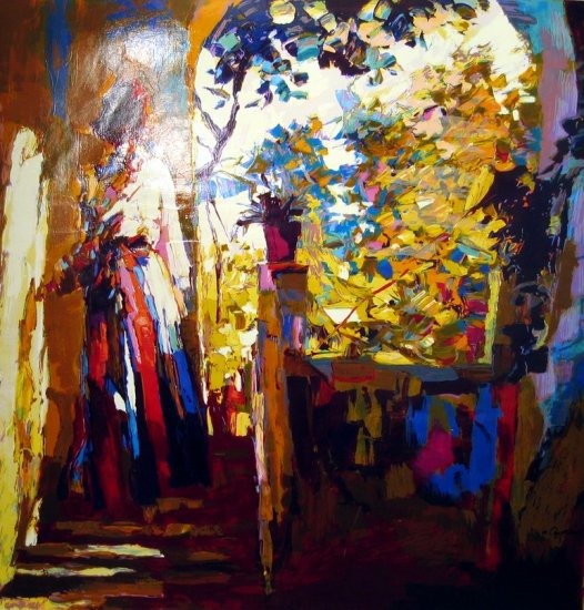 <strong>AFTERNOON IN PROCIDA</strong> by Nicola Simbari<br>(Acrylic on <strong>Canvas</strong>)