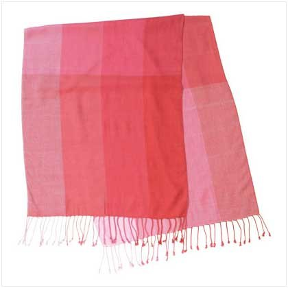 #37776 Pink Shawl with Checks