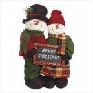 #35711 Plush Standing Snowman Couple