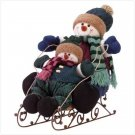 #34875 Snowman Kids On Sleigh