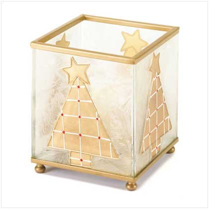 #37152 Square Christmas Tree Candleholder