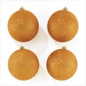 #37266 Gold Glitter Ornaments